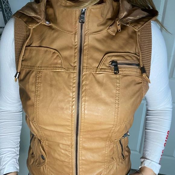Jackets & Blazers - Brown Jacket Vest